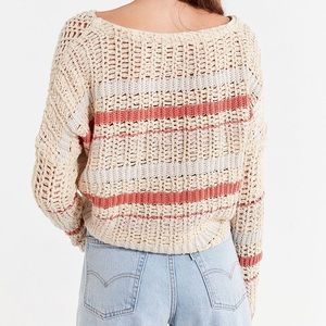 Urban Outfitters Sweaters - Cropped v neck breezy striped sweater